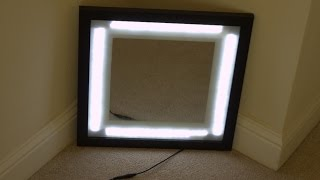 Step by Step: LED Vanity Mirror in a Picture Frame with dimmer ( DIY )