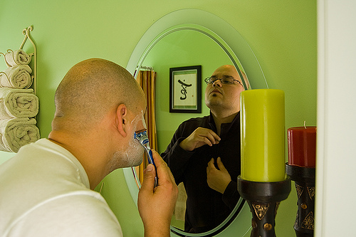 shaving mirrors with lights