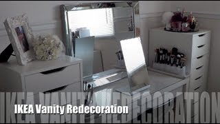 IKEA Vanity Redecoration and Makeup Organization