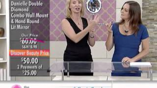 Danielle by Upper Canada Combo Wall & Hand Round Lit Mirror at The Shopping Channel 461021