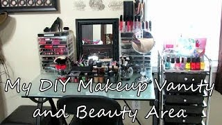 DIY Makeup China Vanity and Beauty Area