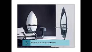 Unusual modern mirror designs