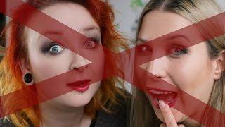 NO MIRROR makeup challenge z Agnieszką ♡  Red Lipstick Monster ♡