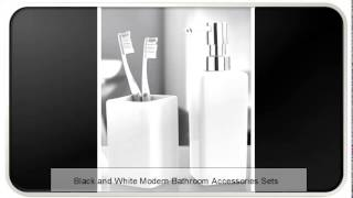Black and White Modern China Bathroom Accessories Sets