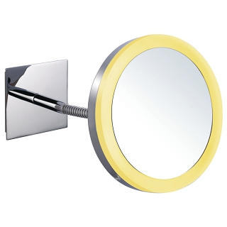 Wall-Hung LED Lighted Magnifying Mirror with Acrylic Lampshade
