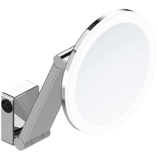 Wall-hung LED Lighted Cosmetic Mirror with Acrylic Lampshade