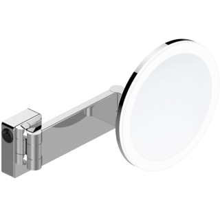 Wall-hung LED Lighted Magnifying Mirror with PMMA Lampshade