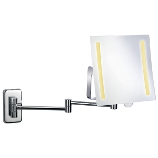 Battery Powered Wall-hung LED Makeup Mirror With Lights