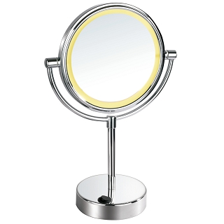 Battery Powered Double-side LED Lighted Vanity Mirror