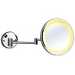 Wall mounted lighted magnifying mirrors
